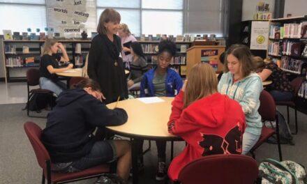 McIntosh Middle School Hosts Middle Grade Author McLaughlin