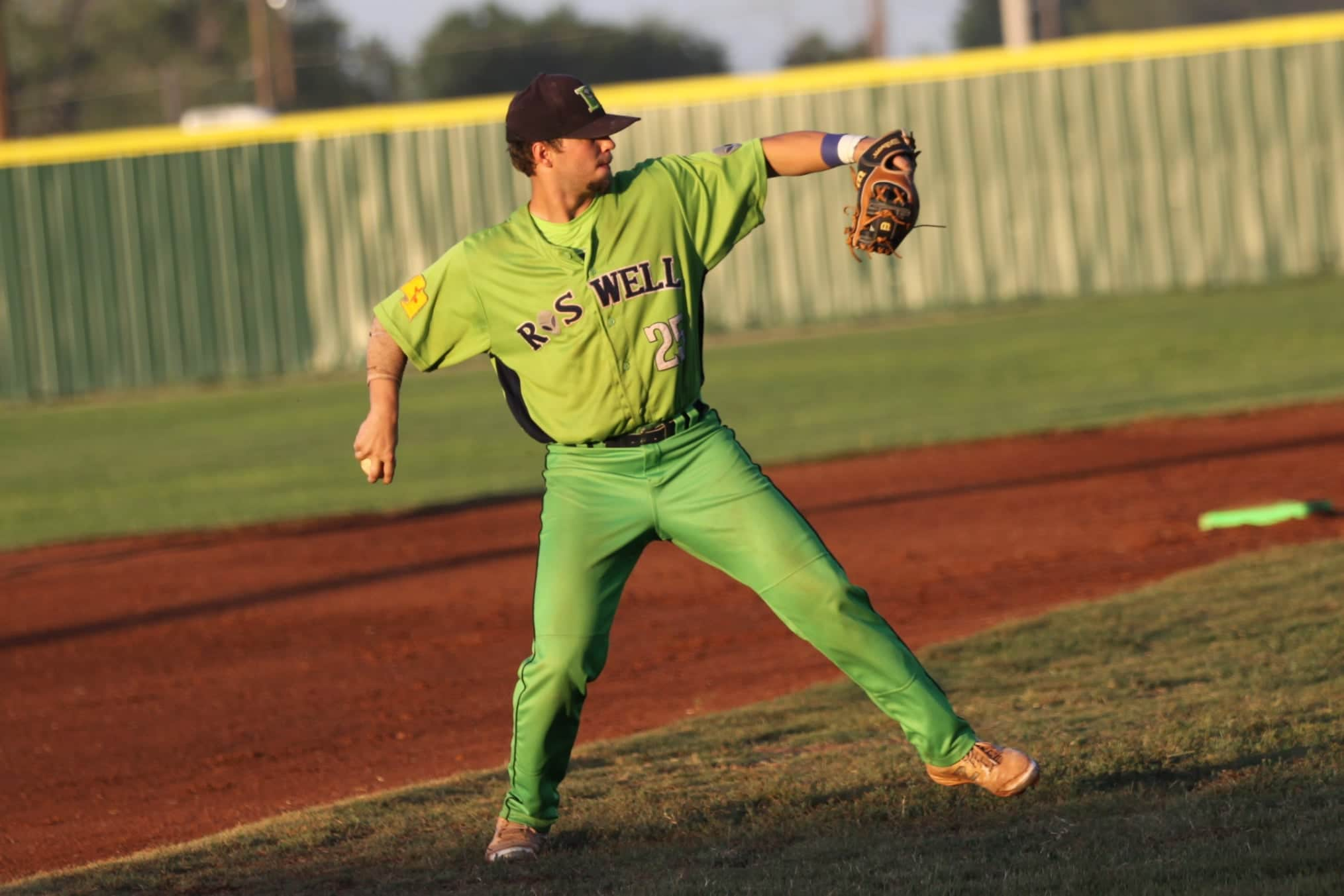 Pitcher for the Roswell Invaders baseball team