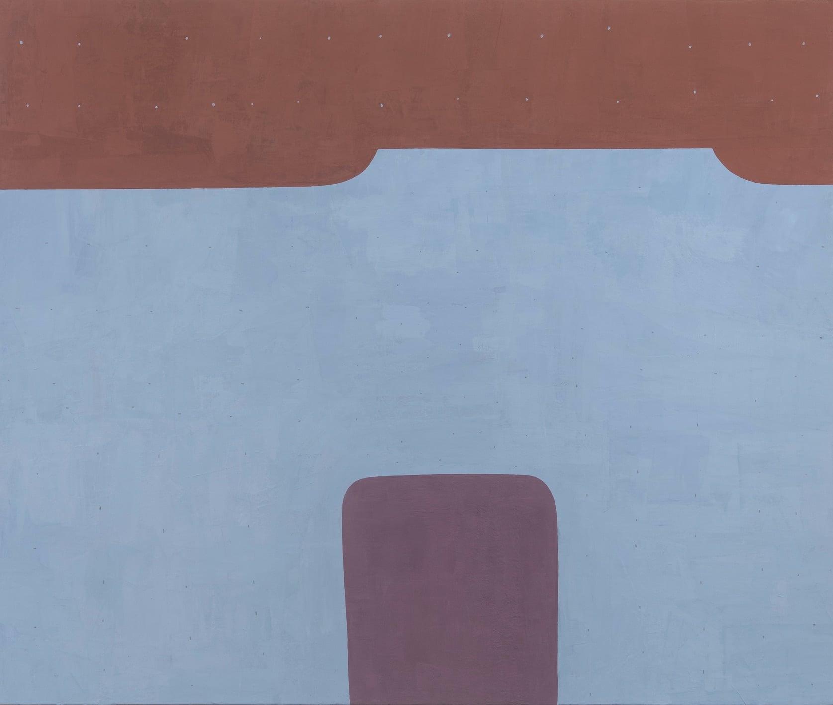 Brown an Blue art piece