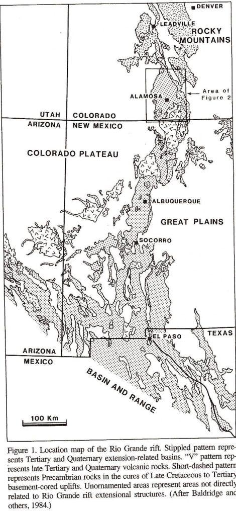Figure 1. San Luis Valley and Rio Grande Rift
