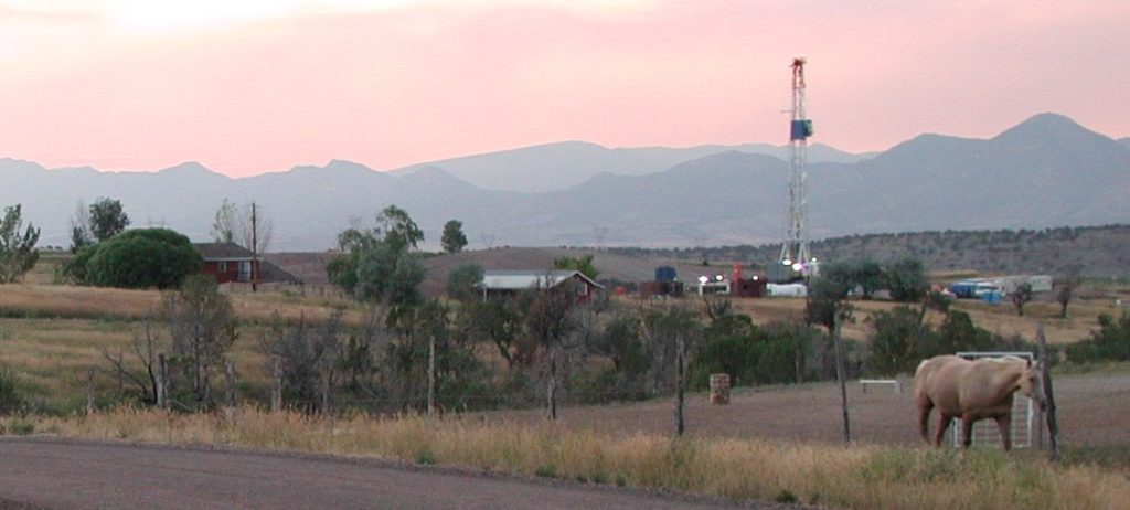 You too could have a gas well in your back yard. South of Silt, Colorado