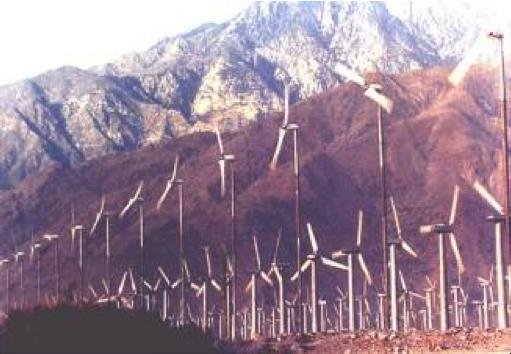 "2-bladed Carter Wind Turbines at San Gorgonio Pass Wind Farm, CA<br /> <a  href=""http://carterwindenergy.com/"">Visit CarterWindEnergy.com</a>"