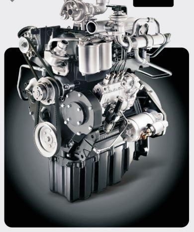 Mahindra EarthMaster SX Backhoe Loader engine