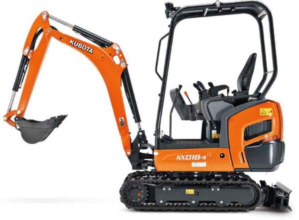 Kubota KX018-4 Mini Excavator Key Features