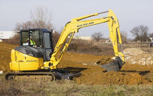 New Holland E55BX Mini Excavator price specs