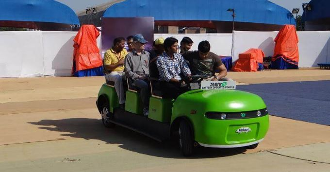 Save Battery Operated Campus Car