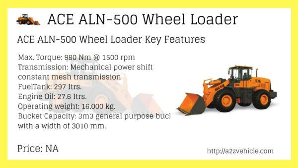ACE ALN-500 Wheel Loader Price in India