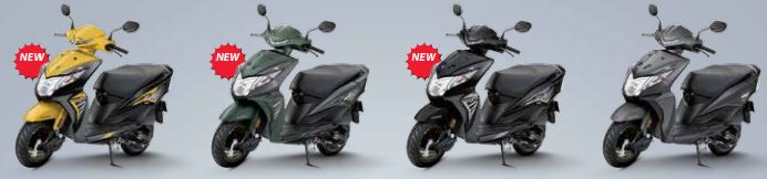 Honda Dio Deluxe Scooter Colors