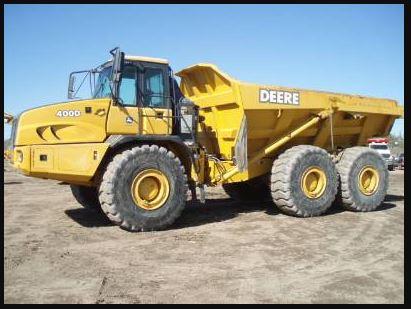 John Deere 400d Articulated Dump Truck specifications