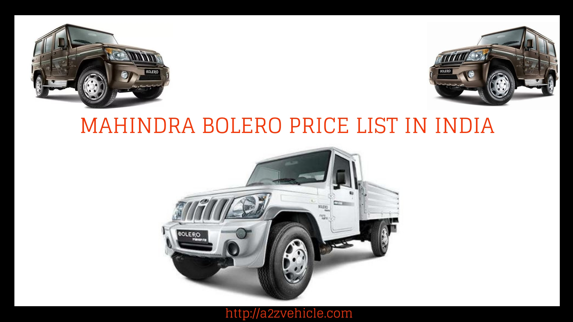 Mahindra bolero top model price and photo