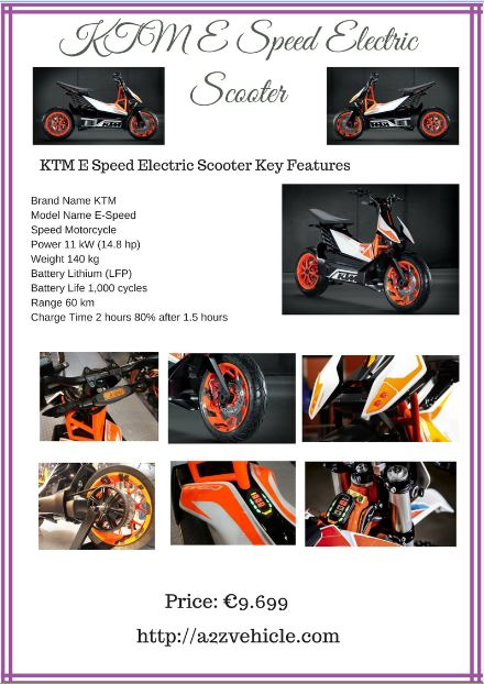 KTM-E-Speed-Electric-Scooter-Price-specs-features