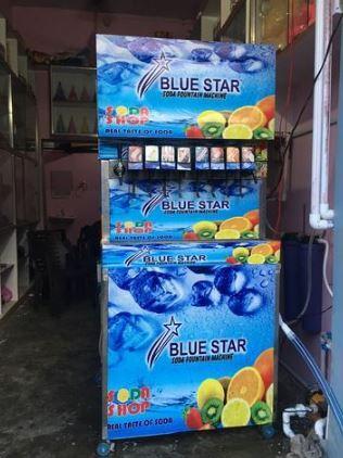 Blue Star 4 Flavors Soda Fountain Machine