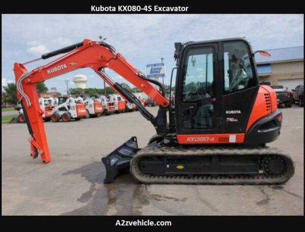 Kubota KX080-4S Excavator Specs, Dimensions, Comparisons