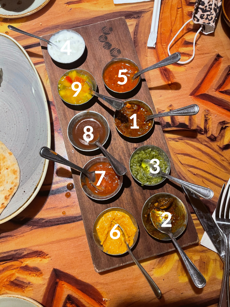 A Ranking of the Sanaa Indian Bread Service Dips.