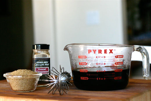 Ingredients for coffee granita recipe