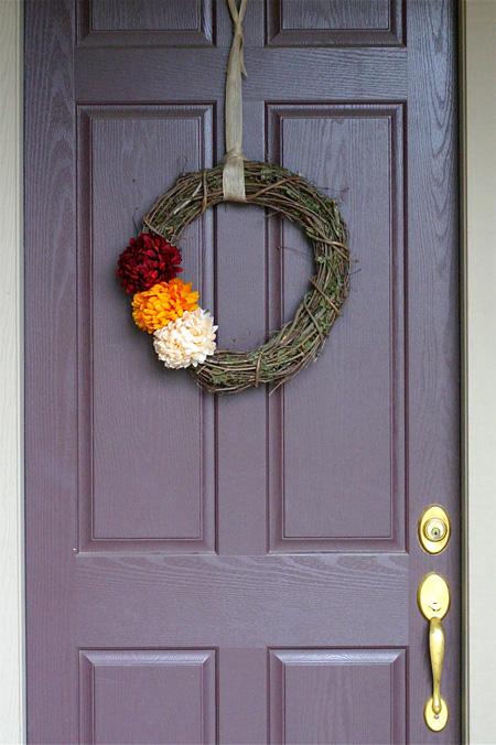 fall wreath hanging