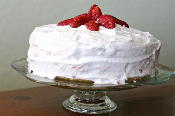 gluten free strawberry vanilla cake