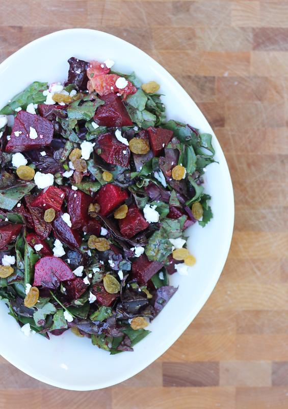 Beet Salad with Tangerine Vinaigrette from InspiredRD.com