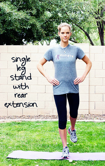 Inspired RD Exercise Library: Single Leg Stand with Rear Extension