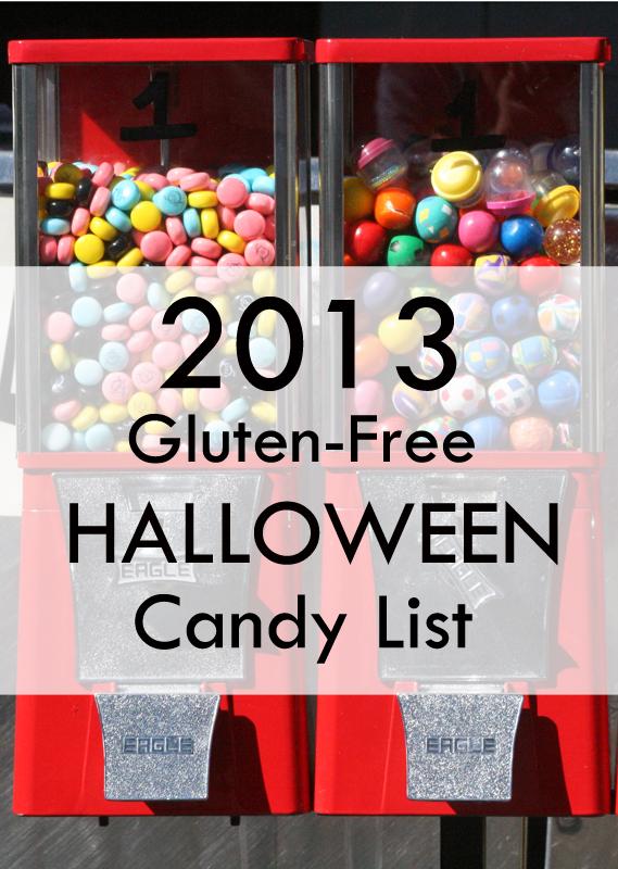 2013 Gluten-Free Halloween Candy List #glutenfree