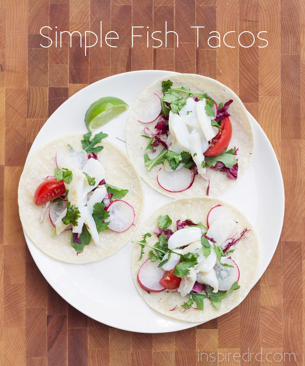 Simple Fish Tacos #glutenfree