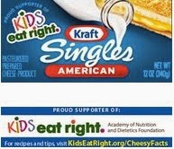 Kraft Singles and Kids Eat Right - A horrible decision