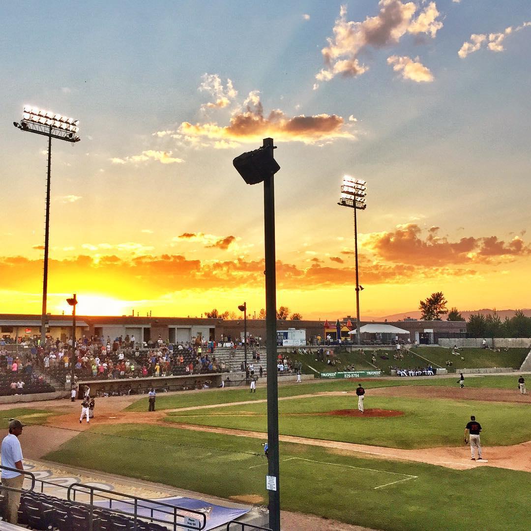 Baseball Sunset - Missoula Osprey