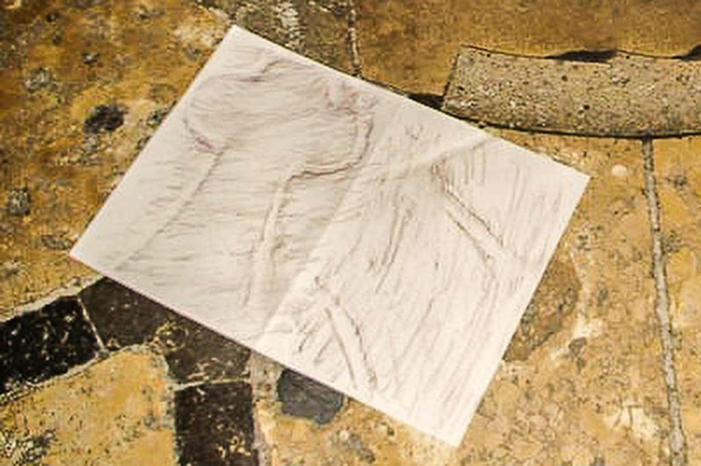 Rubbing of center stone