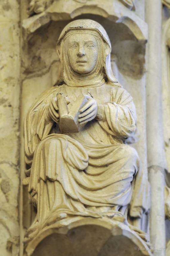 Contemplation at Chartres Cathedral by photographer Jill K H Geoffrion