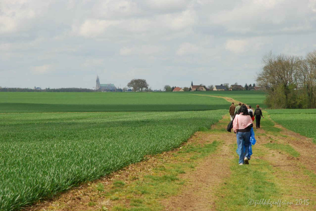 Walking from Bercheres-les-Pierres to Chartres by Photographer Jill K H Geoffrion