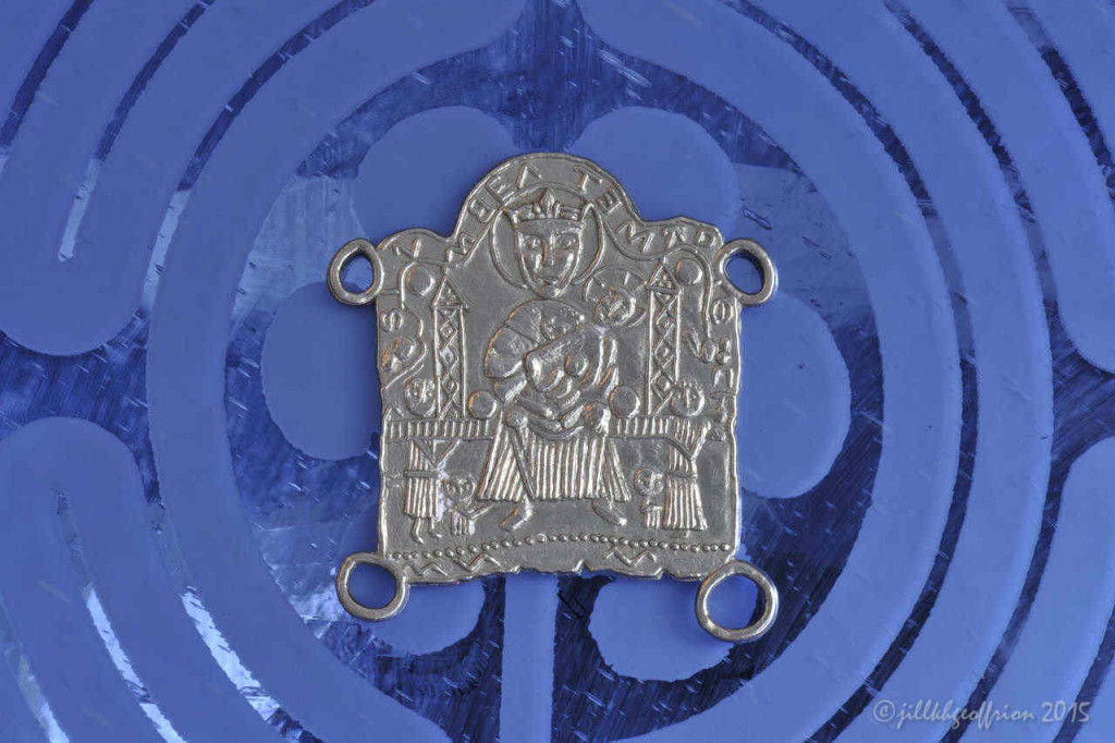 Medieval pilgrimage medal (replica) for the Chartres Cathedral by Jill K H Geoffrion