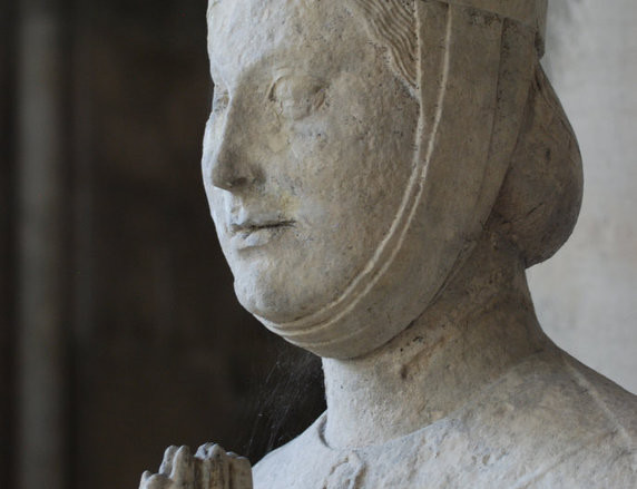 Woman Praying, at Chartres Cathedral by photographer Jill K H Geoffrion