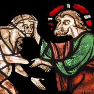God Creating Eve, Good Samaritan Window