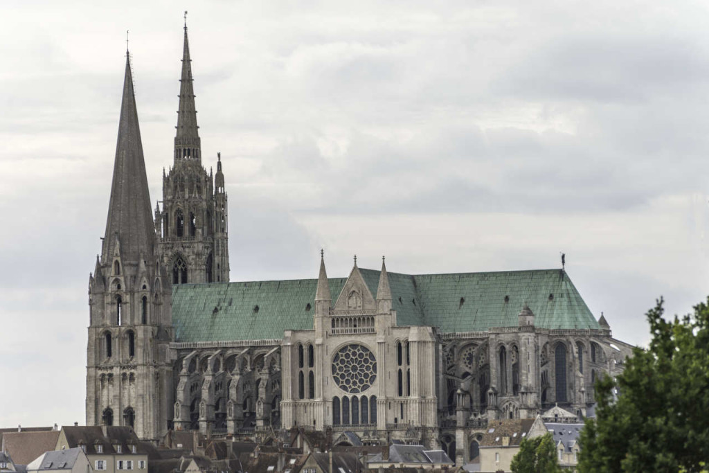 The south side of the Chartres Cathedral by Jill K H Geoffrion