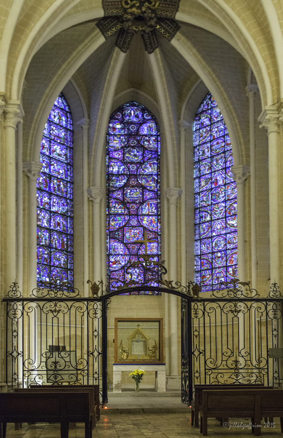 Veil Chapel at Chartres Cathedral by photographer Jill K H Geoffrion