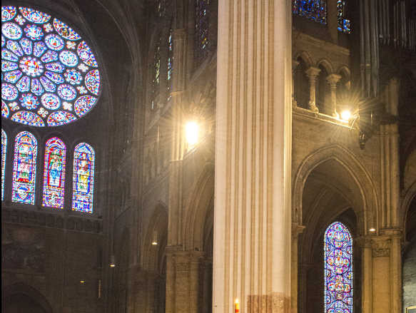 Vespers in the Chartres Cathedral by photographer Jill K H Geoffrion