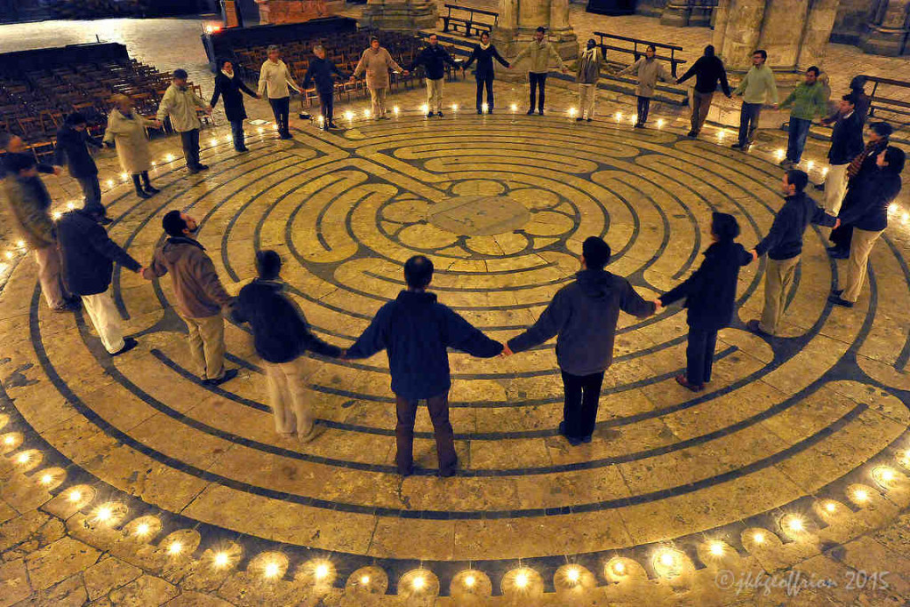 Praying the Labyrinth Together Chartres Cathedral by photographer Jill K H Geoffrion