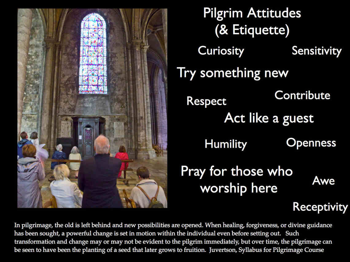 PilgrimEtiquette at Chartres Cathedral by Jill K H Geoffrion