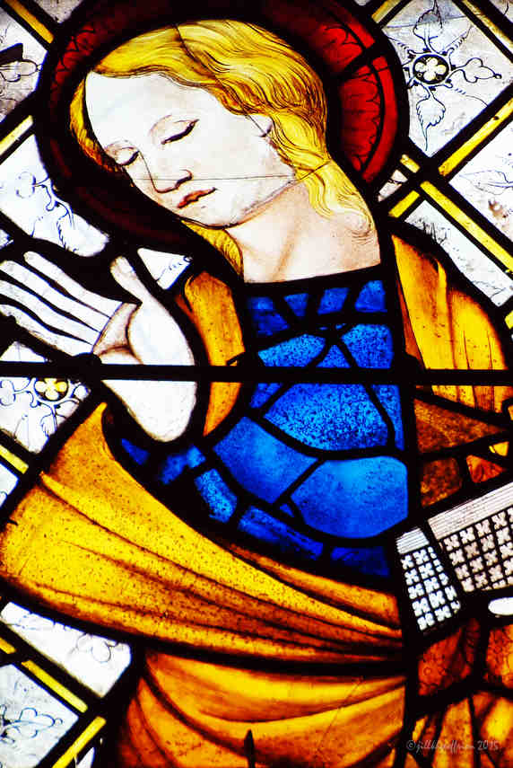 Mary, Annunciation 13th century at Chartres Cathedral by photographer Jill K H Geoffrion