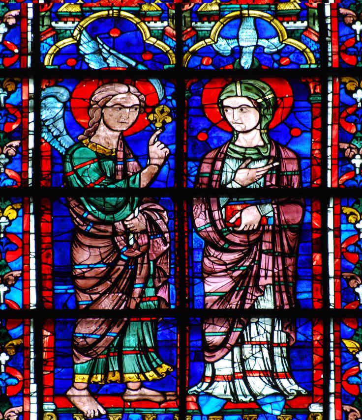 Apsidal image of the Annunciation, 13th century at Chartres Cathedral by photographer Jill K H Geoffrion