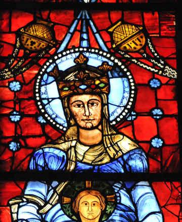 Notre Dame de la Belle Verrière avec Jésus at Chartres Cathedral by photographer Jill K H Geoffrion