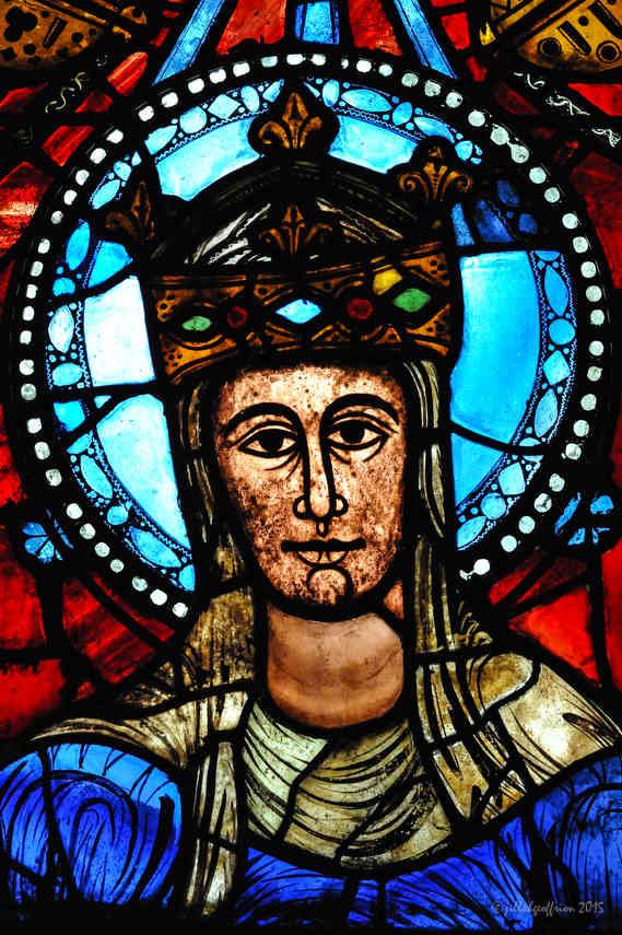 Notre Dame de la Belle Verrière at Chartres Cathedral by photographer Jill K H Geoffrion
