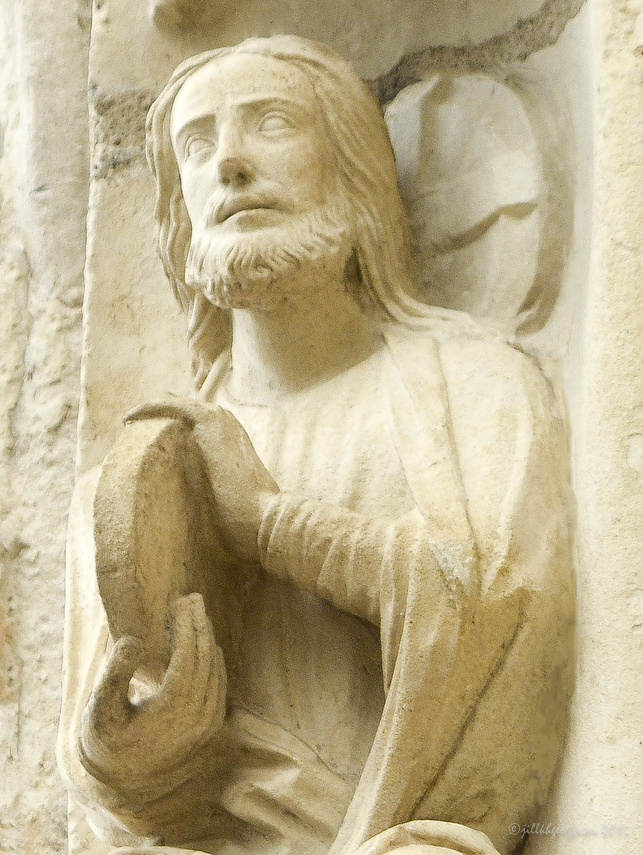 God Creating at Chartres Cathedral by photographer Jill K H Geoffrion