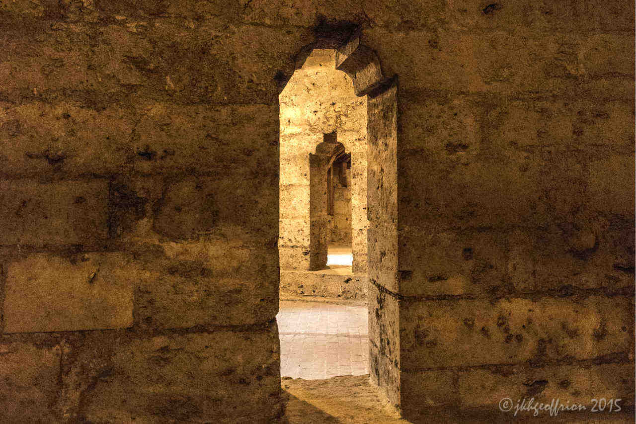 Doorways in the inner triforium of Chartres Cathedral by Jill K H Geoffrion