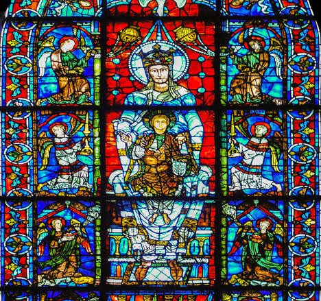 Our Lady of the Beautiful Window at Chartres Cathedral by photographer Jill K H Geoffrion