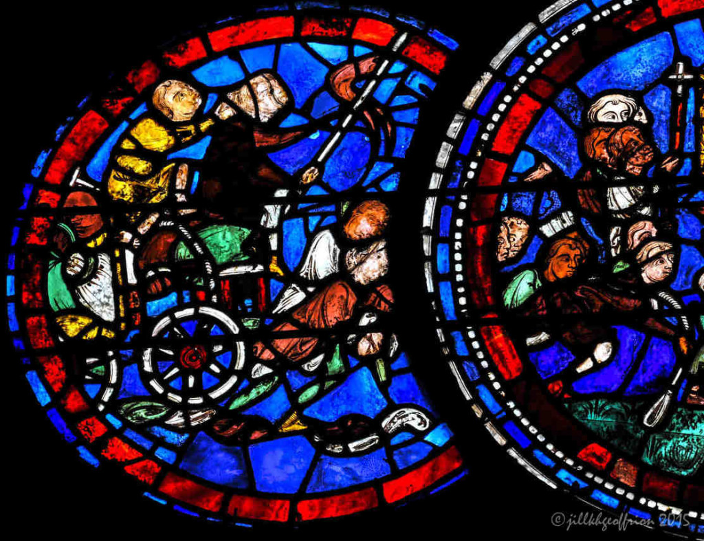 The Miracles of Mary Window (13th century) at Chartres Cathedral by Jill K H Geoffrion, photographer