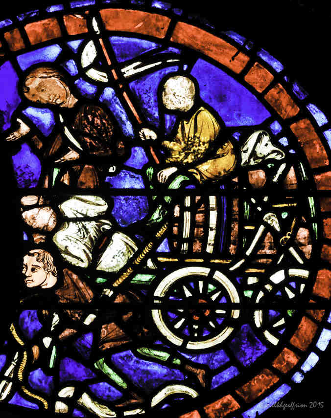 Miracle of Mary Window at Chartres Cathedral by Jill K H Geoffrion, photographer
