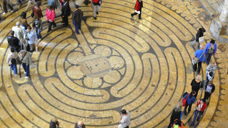 Labyrinth walkers by Jill K H Geoffrion