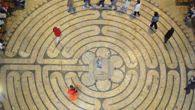 Labyrinth from above by photographer Jill K H Geoffrion