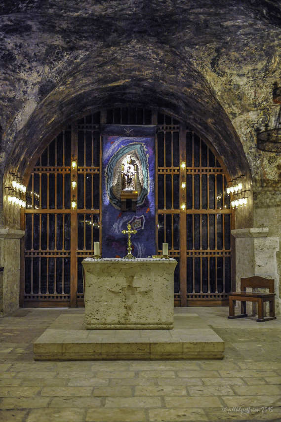 Notre Dame Sous Terre Chapel in the crypt of the Chartres Cathedral by photographer Jill K H Geoffrion